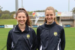Pic: FMNC Referees Fiona Bagley and Fiona Gottstein at the recent TOP camp